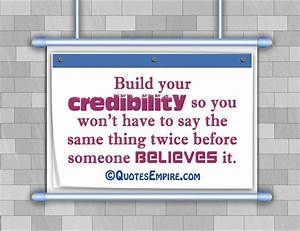 Build your credibility - Quotes Empire
