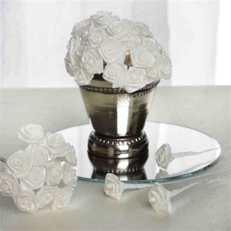 144 pcs mini ribbon roses diy wedding favors crafts