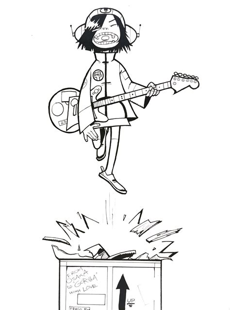 mgorillaz noodle coloring pages coloring pages