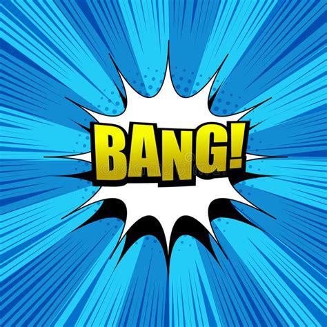Comic Bang Wording Concept Stock Vector Illustration