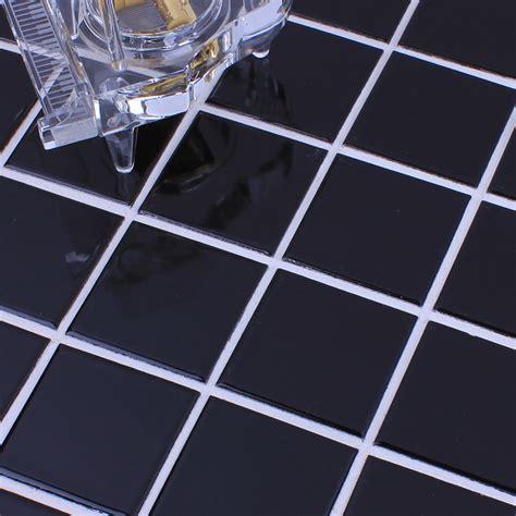 floor mirror the brick wholesale glazed porcelain brick tile mosaic black square surface art tiles floor bathroom