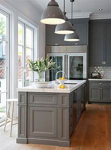 The best gray paint colors for your kitchen for Best brand of paint for kitchen cabinets with wall art for gray walls