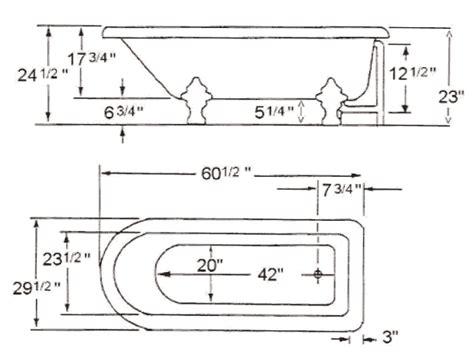 width of tub luxury freestanding clawfoot acrylic tubs
