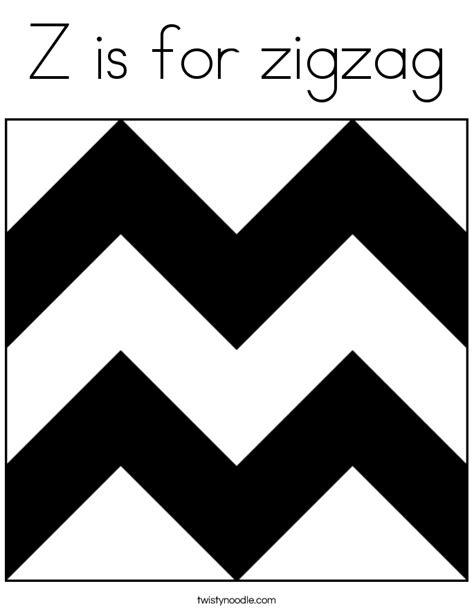 zigzag coloring page twisty noodle
