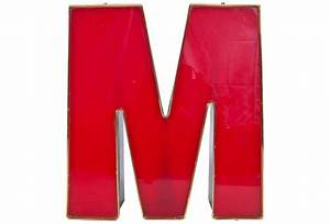 red plastic light up block letter m With light up block letters