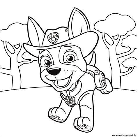 Print Jungle Pup Tracker PAW Patrol coloring pages Paw