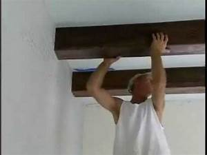 How to Install Faux Ceiling Beams - YouTube