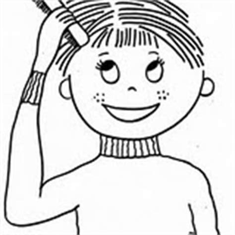 COLOREA TUS DIBUJOS: Niño peinándose para colorear