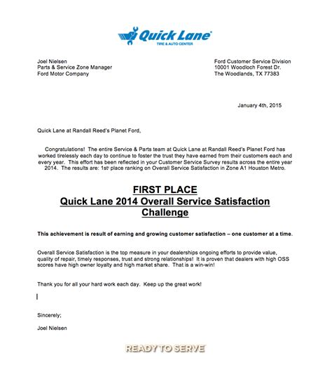 Planet Ford Service & Quick Lane Bring Home #1 Customer