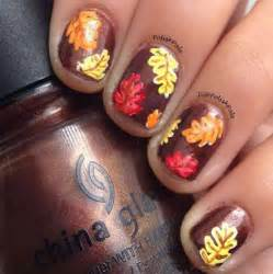 Autumn leaf nail art designs ideas fall nails