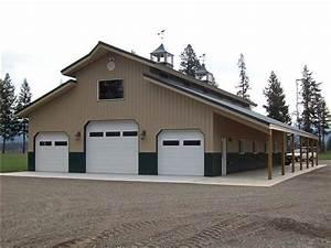 Large 40' x 72' Pole Building Workshop