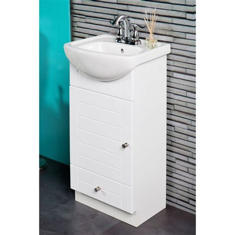 18 inch bathroom sink fine fixtures petite 16 inch vanity with vitreous china