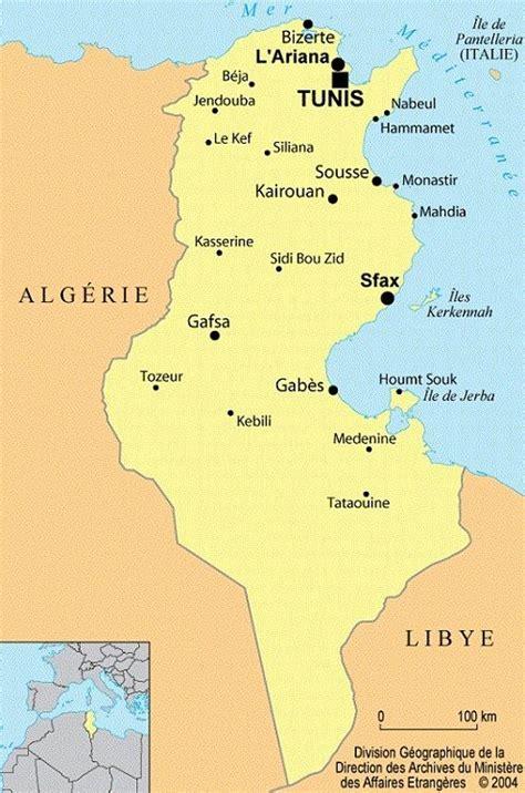 Carte Du Monde Tunisie by Cartes Drapeau Et Informations Sur La Tunisie
