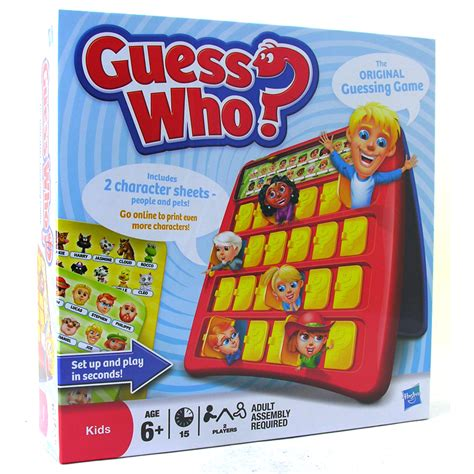 Guess Who Game From Mb Games Wwsm