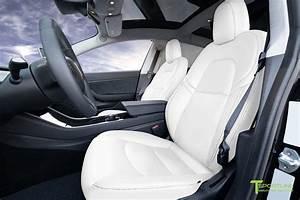 Uber White Tesla Model 3 Seat Upgrade Interior Kit - Factory Design – T Sportline - Tesla Model ...