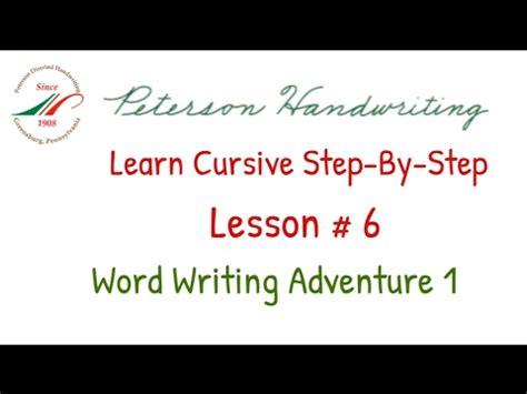 Learn Cursivestepbystep Lesson # 6 Youtube