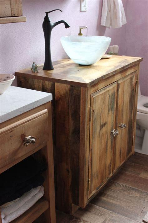 Under Mount Sinks by Bathroom Vanity Reclaimed Wood Los Angeles Barnwood