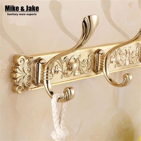Bathroom Hooks Row by Free Shipping Europen Bathroom Wall Golden Carving Robe