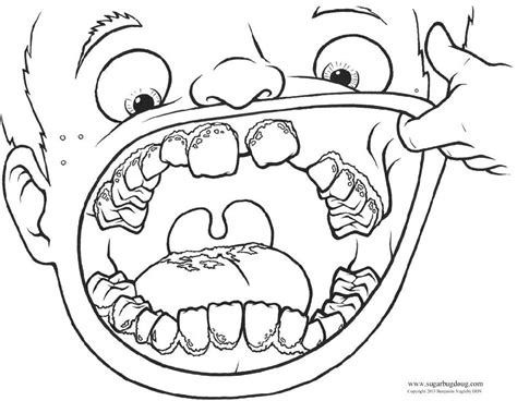 Bens Loose Tooth Coloring Pages Learny Kids