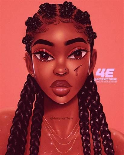 Cartoon Hair Instagram Drawing Digital Drawings Illustration