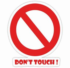 """""""Don't Touch"""" Stickers by missnmn Redbubble"""