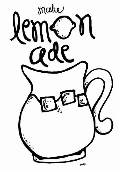 Lemonade Coloring Clipart Stand Pitcher Pages Drawing