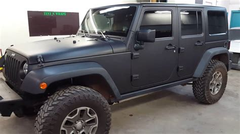 jeep sahara matte black jeep rubicon matte black vinyl wrap youtube