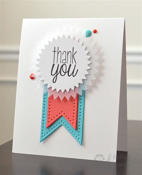 Jj Bolton {handmade Cards} Thank You Ribbon With Avery Elle