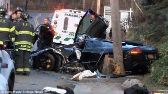 crashed white lamborghini glen nelson killed after losing control of his 200 000