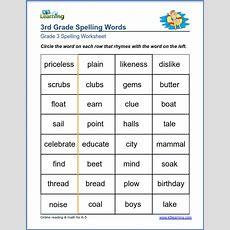 Spelling Worksheets For Grade 3  K5 Learning