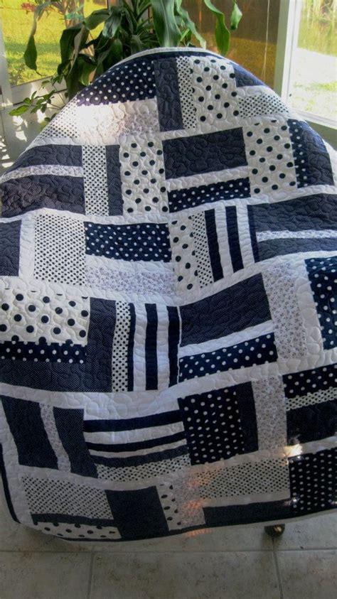 Navy White Quilt by Baby Nursery Crib Quilt Boy Navy Blue White Modern