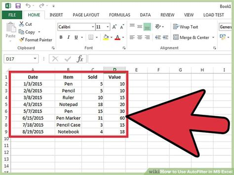 how to use excel how to use autofilter in ms excel 7 steps with pictures