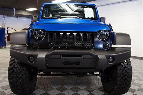 custom jeep bumper 2016 jeep wrangler sport unlimited hydro blue