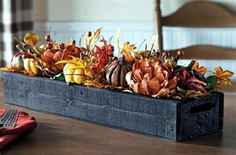 rustic autumn table decoration wooden box  fruit