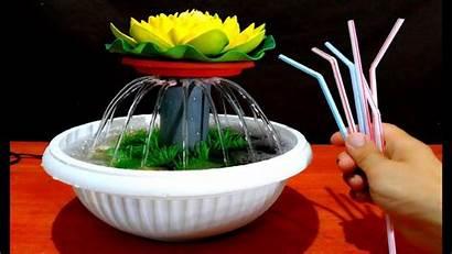 Fountain Tabletop Water Drinking Using Aquarium Straws
