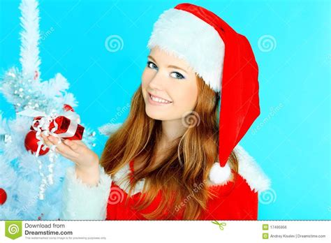 Santa Claus With Maiden In Bright Clothes Stock Maiden Royalty Free Stock Image Image 17495956