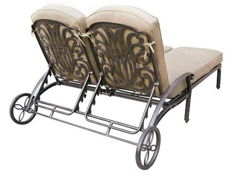 chaise metal vintage darlee outdoor living elisabeth cast aluminum antique bronze chaise lounge