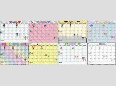 Bonitos y creativos diseños de los calendarios del mes de