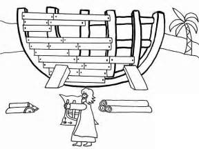 Noah Building Ark Coloring Page