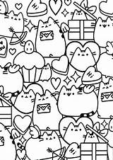 Coloring Pusheen Pages Tulamama Easy Printable Cute Books sketch template