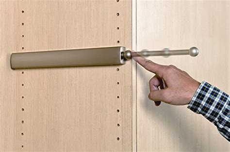 extendable closet valet rod satin nickel 14