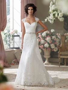 cap sleeves slim a line sweetheart lace appliques wedding With slim a line wedding dress