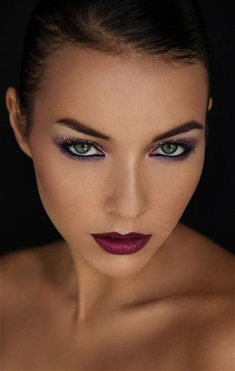 trendy purple lips makeup  pretty designs