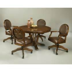 pastel furniture coast 5 distressed cherry dining table set with caster chairs at