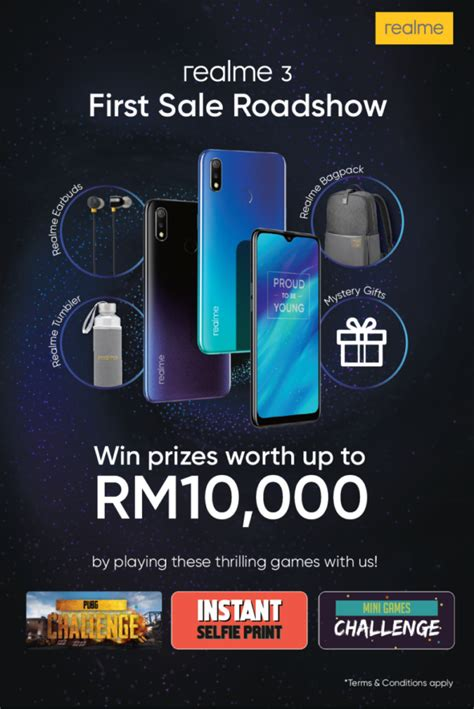 realme  roadshows revealed   rm  prizes