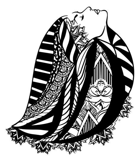 onlinelabels clip art woman  detailed hair design