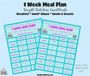 Smart Points Budget Berechnen : weight watchers smartpoints meal plan 1 week plan ~ Themetempest.com Abrechnung