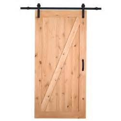 home depot interior door handles masonite 42 in x 84 in z bar knotty alder wood interior barn door slab with sliding door