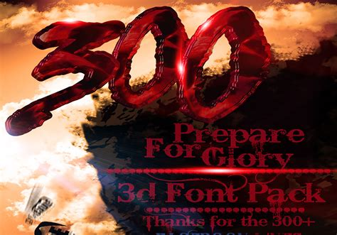 300 The Movie Inspired 3d Font Pack