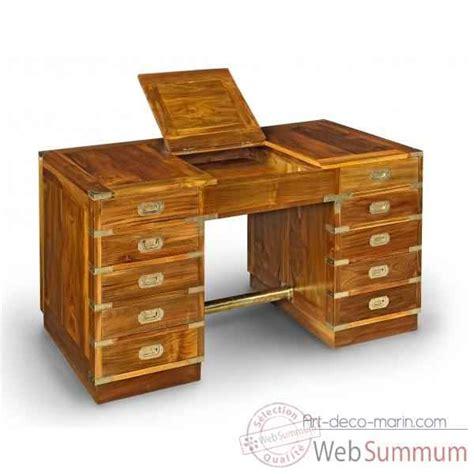 meuble caisson bureau bureau caissons en teck massif avec poignees dans